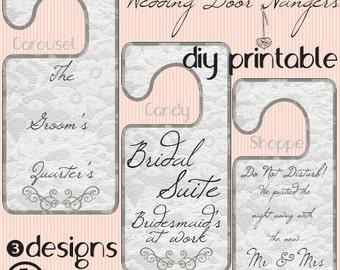 DIY Wedding Guest Door Hanger Instant Download
