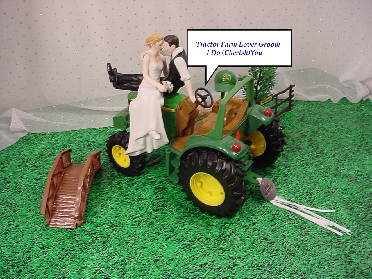 Green Outdoor Die Cast Farm Tractor County Lover Couple Rustic