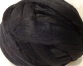 Wool Roving, Black Roving, Merino Roving, Black Wool, Felting Wool, SpinningWool,  Black Merino Wool Roving - 8 oz