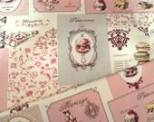 Japanese fabric, Lolita fabric, Retro fabric, Cotton fabric, Fashion fabric, Designer fabric, Vintage design fabric, 1/2 yard FB097