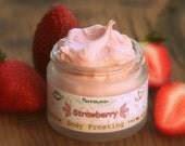 Organic Strawberry Body Frosting Vegan Natural with Shea butter and Coconut oil
