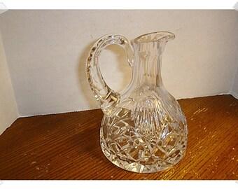 Vintage Pressed Glass Pitcher/Flat bottom/ Home Decor/ Supplies**