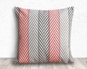 Pillow Cover, Pillow Case, Cushion Cover, Decorative Throw Pillows, Linen Pillow Cover 18x18 - Printed Geometric - 193