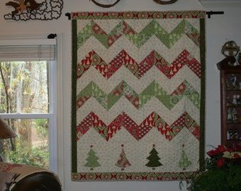 Deck The Halls Christmas Quilt/Throw/Wallhanging