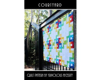 Quilt Pattern PDF Courtyard in Baby-King Sizes -- BaliPop Friendly