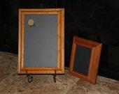 Vintage, Magnetic, Oak Framed Chalkboard Set (2) Wedding/Home/Restaurant