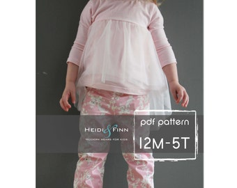 Ballon Top pattern and tutorial 12M-5T chiffon ballet tee shirt blouse PDF