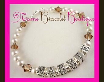 Grandma Bracelet Mothers Bracelet Mother Mimi By Namebracelets