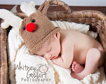 Infant Reindeer Hat 6 to 12 Months