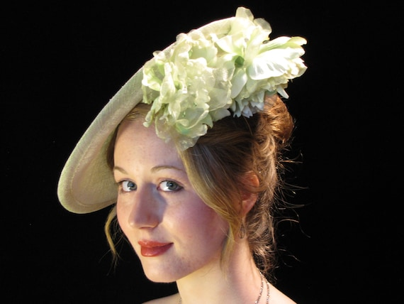 Spring Blush pale green fascinator green hat by ...