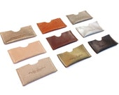 Business Leather Card Holder / Credit Card Case / Leather Card Wallet / Man Small wallet  / Woman Small Wallet