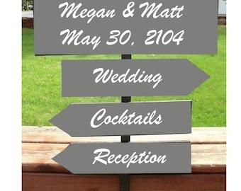 Wedding Directional Signs 4  Custom Wedding Sign on 4ft Stake
