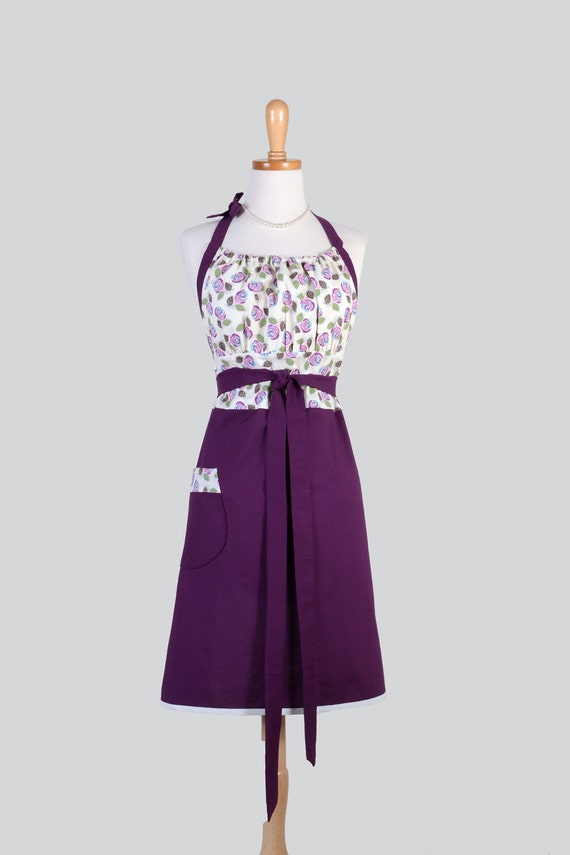 cute kitsch retro apron full kitchen womens apron in