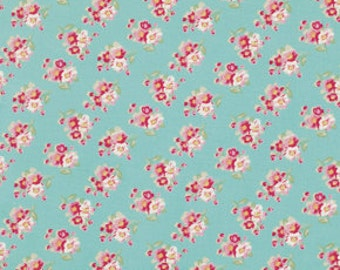 Teal Cherry Blossom Fabric Collection  by Tanya Whelan Rosey  PWTW065-teal