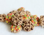 Polymer Clay Chocolate Chip Cookie Charms, Set of 8 Charms