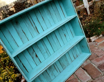 Robins Egg Blue - Color Choice - Shelving - Wooden Shelf - Furniture - Cabinet - Storage - Kitchen, Bath, Home Decor 30 x 30 x 5.5
