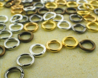 18 gauge 5.5mm OD Jump Rings - Best Commercially Made - Silver Plate, Gold Plate, Antique Gold, Gunmetal, Bright Silver, Solid Brass