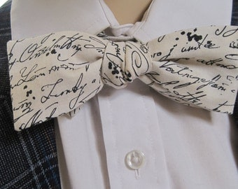 Mr Skinny Letters to Juliet Bow Tie