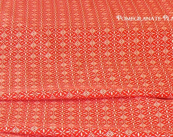 On Sale !..Red equinox...  1 and a quarter yard END OF BOLT from Kate Spains Solstice..winter collection..by Moda Fabrics