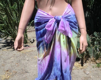 Pastel Sky3- Slimming beach wrap, Purple,Pink and  a little Yellow,Sarong/Pareo, pool cover up,chiffon,oversized scarf,Rainbow shoulder wrap