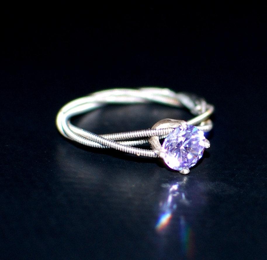 guitar string purity ring lavender engagement ring promise. Black Bedroom Furniture Sets. Home Design Ideas