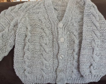 Grey Knit Sweater Size 5 to 6 year old