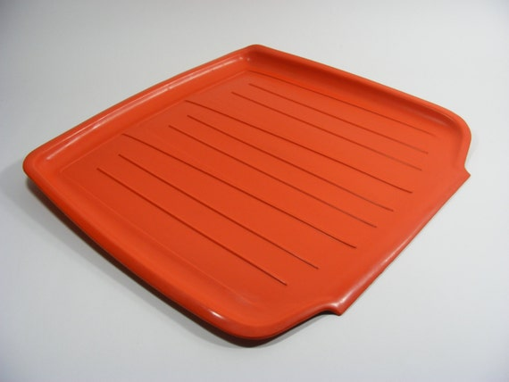 Orange Rubbermaid Dish Drain Mat