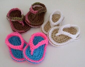 Baby Girl Sandals, Thong Sandals, Summer Shoes, Crochet Toddler Sandals