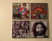 Grateful Dead Coasters - set of 4 with holder