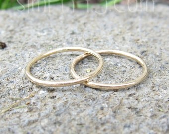 Set of 2 Gold Filled Thin Knuckle Ring
