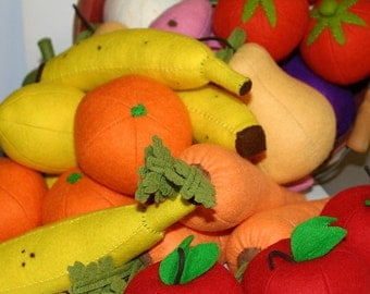Whole Orange - Wool Felt Play Food