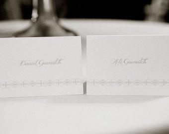 Wedding Place Cards, Elegant Gate Design, Tented Cards by Dodeline Design in Charleston SC