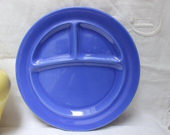 Metlock Pottery Grill Plate Cobalt Blue California Dinner Ware VINTAGE by Plantdreaming