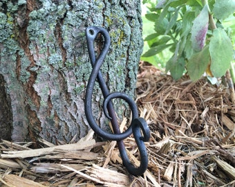 Treble Clef key hook - Hand Forged, Metal Hook, Musician Gift, Teacher Gift