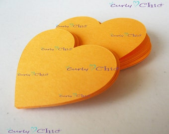 "120 Hearts Tags Size 2"" -Hearts die cuts -Paper Hearts tags -Cardstock Hearts die cuts -Paper Hearts labels -Paper tags -Custom die cuts"