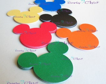 "150 Mickey Mouse Die cuts Size 2.50"" -Mickey Paper Labels -Mickey Tags -Paper tags -Cardstock die cuts -Cardstock paper labels"