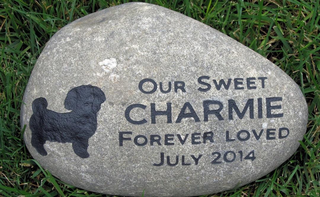 Personalized Pet Memorials Stone Maltese Grave Marker Memorial
