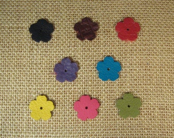 Leather Flowers - Precut - 3/4 Inch Diameter - Choose Your Quantity