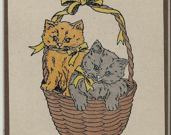All Occasion Post Card-Set of 5-Sweet Kittens