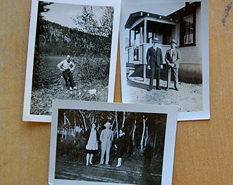 Vintage Photos Instant Collection of Old Black and White Photographs Snapshots 1920s Dapper Men Fashion Women