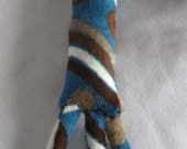 Fleece Stick with Flappies Jingle Rattle Handmade Dog Puppy Pet Toy