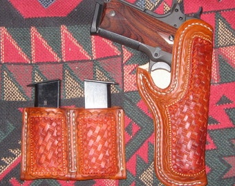 Made to Order 1911 holster and twin mag carrier - 10/12 week delivery