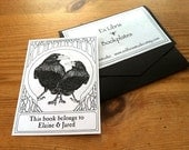 Bookplates Ravens Love 25 Personalized Booklabels Ex Libris