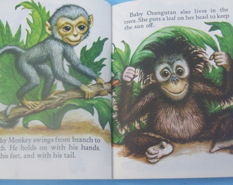 Baby Animal / Golden Book / Cute Pictures / 1980 / 27th Printing