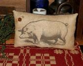Primitive Pig Pillow Tuck