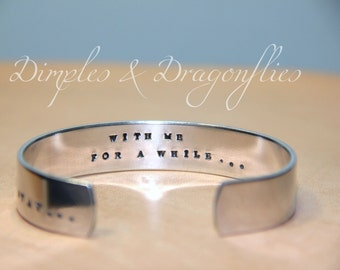 Romantic Gift | Girlfriend Gift | Stay With Me | Hand Stamped | Secret Message Bracelet | Wife Gift | Gift For Her | Handmade