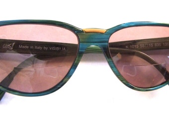 1980s 1990s Designer Eyeglasses  // 80s 90s Glasses // Rhinestones // Made in Italy // VISIBILLA // Ciak
