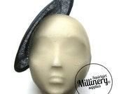 Large Round Navy Blue Saucer Sinamay Fascinator Hat Base for Millinery