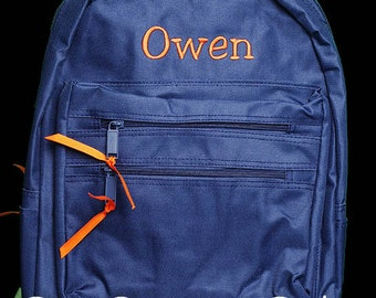 Monogrammed Backpack, Personalized Backpack, Boys Backpack, Custom Backpack, Custom Colors and Name