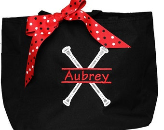 Baton Tote Bag, Baton Bag, Twirling Bag, Monogrammed Bag, Personalized, Perfect for Swimming Lessons